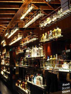 Go with the Grain Bar, Four Seasons Hotel Sydney Industrial Restaurant, Restaurant Lounge, Bar Lounge, Restaurant Design, Bar Interior Design, Pub Design, Social Bar, Oak Bar Stools, Cellar Design