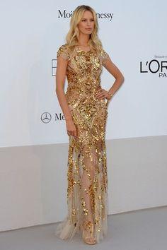 Karolina Kurkova in Roberto Cavalli looking golden '12