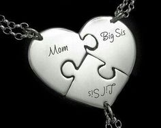 Mother Two Daughter Split heart necklace set, Mother 2 Daughter jewelry set, Big sis Mom Lil sis necklaces, Mother's Day gift, Girl Mom Bff Necklaces, Best Friend Necklaces, Friendship Necklaces, Best Friend Jewelry, Three Sisters Jewelry, Sister Jewelry, Sister Bracelet, Daughter Necklace, Special Gifts For Mom