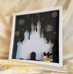 Disney's Sleeping Beauty Castle Pin Display by DesireesDEZigns #DEZigns #desireesdezigns Disney pin shadowbox display at https://www.etsy.com/listing/453395010/disneys-sleeping-beauty-castle-pin www.facebook.com/desireesdezigns