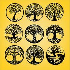 Leben von Baum Baum geschnitten Datei Baum Freisteller