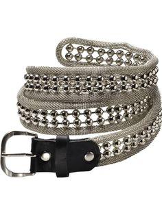 Rock inspired belt by Maison Scotch