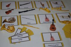 Musical Instruments Montessori Object-to-Card Matching