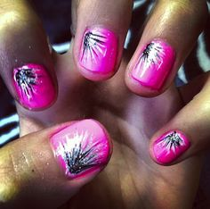 Flamingo pink #nails #design