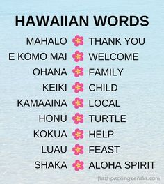 What Hawaiian words and phrases to know before first time trip to Hawaii? Things to do in Hawaii? What to know for Hawaii visit as a tourist. Also what to pack for Hawaii. What to wear in Hawaii. Hawaii vacation ideas, tips, Kauai Hawaii, Hawaii Honeymoon, Hawaii Life, Hawaii Beach, Hawaii Travel Guide, Maui Travel, Travel Destinations, Beach Travel, Budget Travel