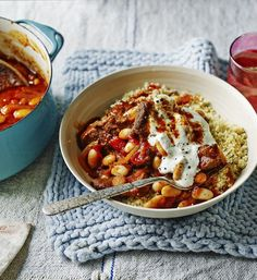 Sensible Mary Berry - this rustic casserole uses inexpensive lamb neck and beans for a good value family dinner.