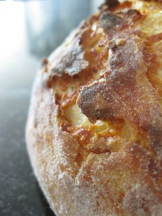 Easiest bread recipe ever! Key - let it rise overnight, while you sleep and bake the next day. LM 9-2013