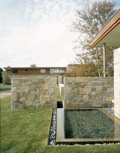 modern stone house exterior