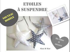 Déco murale : Etoiles tons gris à suspendre pour déco de chambre : Décoration pour enfants par rolli-n-roll