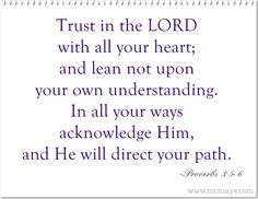 Momaye's Diary: Daily Inspiration: Trust in the Lord
