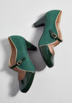 How s About It  Mary Jane Heel Green Mary Jane Shoes 678528dc2617