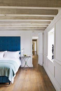 Hand-Dyed Blue Headboard - Bedroom Decorating & Design Ideas (houseandgarden.co.uk)