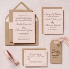 Modern Blush Wedding Invitation - Nadia & Thomas   Paper Source