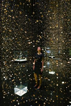 'Frozen Time' Installation for a Japanese watch brand CITIZEN in Baselworld by Dorell.Ghotmeh.Tane / Architects. Photo © Takuji Shimmura.