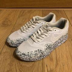 Custom Sneakers. Angelus paint. NIKE Air 1 Ultra White. Painted sneakers. DYI. Air Max 1, Nike Air Max, Painted Sneakers, Custom Sneakers, Dyi, Shoes, Fashion, Moda, Zapatos
