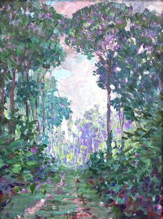 For Sale on - Along the Cuyuni, British Guiana, Oil Paint, Board by Harry Leslie Hoffman. Offered by Lilac Gallery Ltd. Impressionist Landscape, Landscape Paintings, British Guiana, American Impressionism, Art Students League, National Art, Art Club, Mountain Landscape, Artist Names