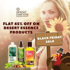 Black Friday Sale! Flat 45% Off on Desert Essence Products