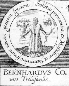 ALQUIMIA VERDADERA: Emblema 50. Bernardo, conde de TrevisoEl agua permanente procedente de la semilla masculina y femenina alumbra especies nuevas.