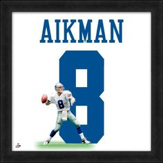 Troy Aikman Framed Dallas Cowboys Jersey Photo for sale online Football Memorabilia, Football Jerseys, Framed Jersey, Nfl Photos, Troy Aikman, How Bout Them Cowboys, Nfl Gear, Sports Wallpapers, Nfl Fans