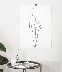 Female Figure Drawing PRINTABLE Line art Female body Woman body outline Woman from behind Sketch wall art Female nudity poster Body Outline, Outline Art, Outline Drawings, Easy Drawings, Silhouette Drawings, Tattoo Drawings, Body Drawing, Figure Drawing, Wall Drawing