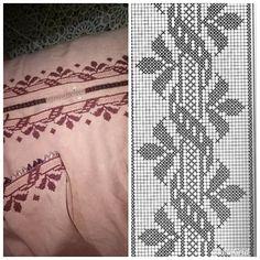 Crochet Doily Diagram, Crochet Doilies, Palestinian Embroidery, Couture, Le Point, Cross Stitch Patterns, Needlework, Stitches, Alphabet