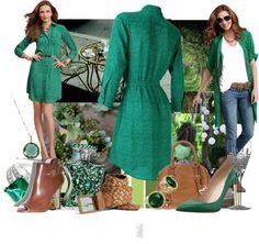 """The Luck of the Irish"" by inlovewithfashion-874 ❤ liked on Polyvore"