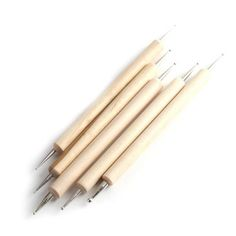 Yesurprise 5Pcs Nail Art Salon Manicure 2 Ways Wood Wooden Dot Dotting Painting Pens Tool by Yesurprise. $3.54. Two Same Ends are specialized for Precise Marbleizing Work. Length: 13cm. Set Of 5pcs Different Size Nail Art Dotting Tools With 2 Ends, One With Larger Ball Dot And Another With Smaller Ball Dot For Carious Marbleizing And Dotting Work. Wooden Design. Great for Both Professional Nail Specialist or Nail Art Learner. Features: 100% Brand New Length: 1...