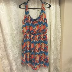 Short dress Very cute multi color dress! Only worn once! Rue 21 Dresses Mini