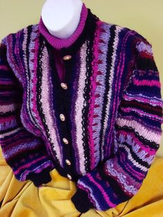Hand Knit Cardigan from Hand Spun Wool.