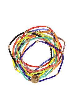 JUEGO DE ONCE PULSERAS DE CHAQUIRA EN DIFERENTES COLORES CON BOLITAS EN CHAPA DE ORO DE 14K. #LePip #HandMade #Jewelry