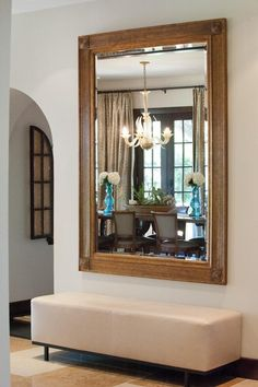 #bench, #entryway, #mirror  Photography: Suzi Q - qweddings.com  Read More: http://www.stylemepretty.com/living/2013/04/15/at-home-with-kendra-scott/