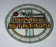 SPACE STATION By WILLIAMS ORIGINAL NOS PINBALL MACHINE PLASTIC PROMO KEYCHAIN #spacestation #pinball #pinballmachine