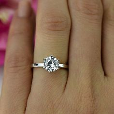 1.5 ct Promise Ring Classic Solitaire Engagement by TigerGemstones