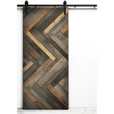 Youu0027ll Love The Herringbone Wood Stained Interior Barn Door At Wayfair    Great Deals