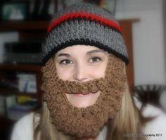Crocheted Bearded Beanie on Luulla