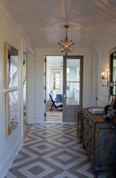 Coastal Living Sullivan's Island Home Tour - painted floor