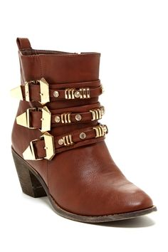 Bucco Tria Buckle Bootie from HauteLook on shop.CatalogSpree.com, your personal digital mall.