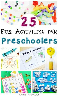 Fun activities for preschoolers that you'll want to try today! Boredom busting ideas and educational inspiration including crafts, cutting boxes, science experiments and maths activities #preschool