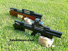 Nice pair of Taipan Mutant shorty bullpup air rifles.