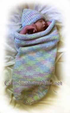 Baby cocoon and hat pattern