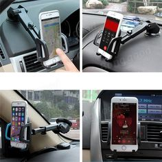 Bakeey™ 2 in 1 Multifunctional Phone Stand Suction Cup Car Air Vent Holder Bracket for under 6 inches Phone Sale - Banggood.com Phone Mount, Car Mount, Car Holder, Phone Holder, Samsung Accessories, Cell Phone Accessories, Samsung 8, Air Vent, Phone Stand