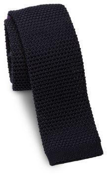 Ralph Lauren Woven Silk Square-End Slim Tie