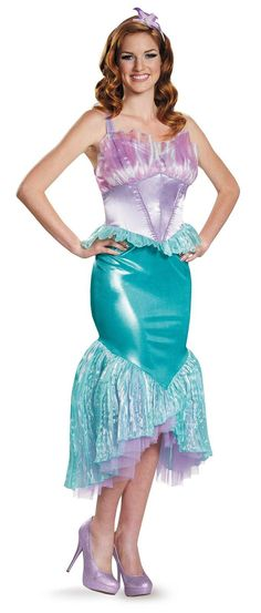Adult Costumes - This Ariel Deluxe Costume from the Little Mermaid movie  includes the shimmering plus size mermaid costume dress 160a6922d7ba