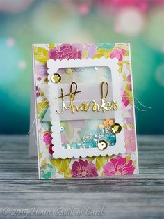 Hello one last time for the day (I think!) - with one final card for a challenge that ends today: Made this one for the Paper Smooc. Diy Cards, Your Cards, Acetate Cards, Karten Diy, Thanks Card, Window Cards, Shaker Cards, Card Tutorials, Card Making Inspiration