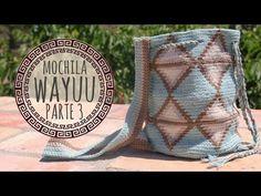 Video Tutorial Wayuu Bag Crochet - Part 1 Diy Crochet Purse, Crochet Bag Tutorials, Crochet Purses, Crochet Videos, Crochet Yarn, Free Crochet, Crochet Projects, Mochila Tutorial, Mochila Crochet