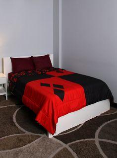 DC Comics Harley Quinn® Diamond Full/Queen Comforter I designed for Hot Topic