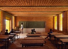 Key projects by Serpentine Pavilion architect Diébédo Francis Kéré- Gando Primary School, Burkina Faso, 2001