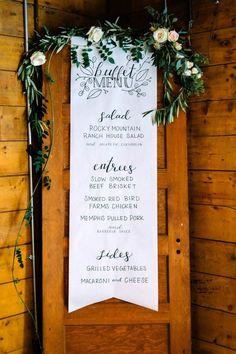 Earthy nature-inspired buffet menu | Autumn Cutaia Photography