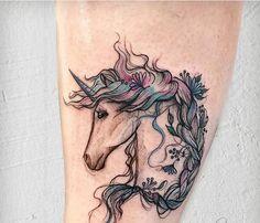 Unicorn Tattoos, Skull Tattoos, Animal Tattoos, Body Art Tattoos, Tatoos, Feminine Tattoos, Unique Tattoos, Horse Tattoo Design, Tattoo Designs