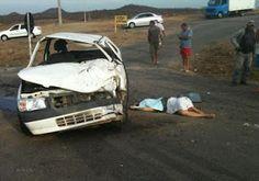 Acidente deixa duas mortes fatais na BR 405, próximo a entrada de Marcelino Vieira/RN
